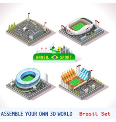 Game Set 09 Building Isometric vector