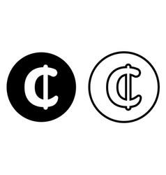 ghana cedi currency symbol icon vector image