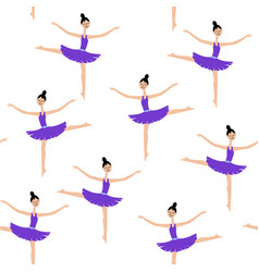 girl dancer on a white background ballerina vector image