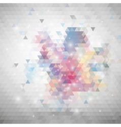 Gray geometric background abstract triangle vector
