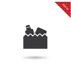groceries bag icon vector image