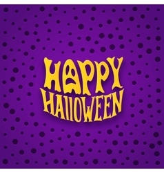Halloween card with modern lettering style label vector