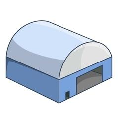 Hangar icon cartoon style vector