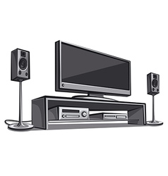 Home cinema system vector