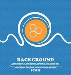 Honeycomb icon sign Blue and white abstract vector
