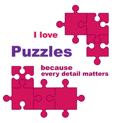 i love puzzles vector image