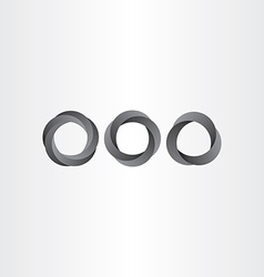 impossible looped black circle set vector image