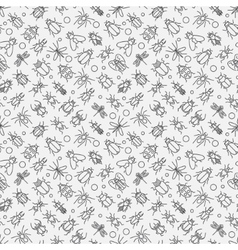 Insects linear pattern vector image