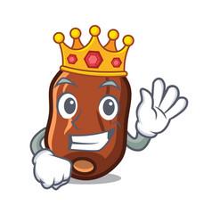 King dates fruit mascot cartoon vector
