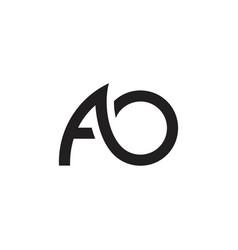 Letters ao simple curves geometric line logo vector
