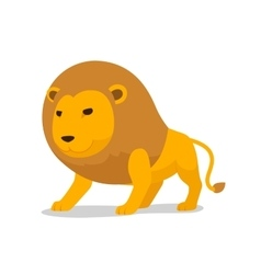 Lion cartoon minimalistic vector image