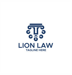 lion law abstract logo vector image