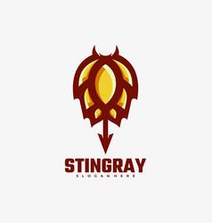 logo stingray simple mascot style vector image