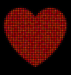 love heart halftone icon vector image