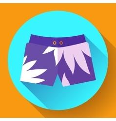 Man Beach Shorts icon Flat design style vector image