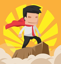 Man hero worker power business vector