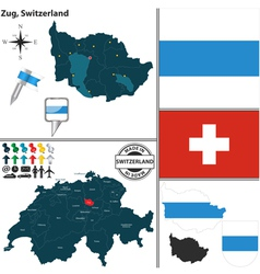 Map of Zug vector