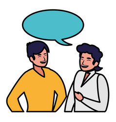 men and conversa vector image