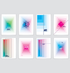 minimalistic brochure designs geometric abstract vector image