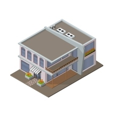 modern house icon vector image
