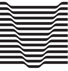 monochrome volumetric pattern from the strips vector image