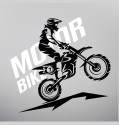 motocross stylized symbol design elements vector image
