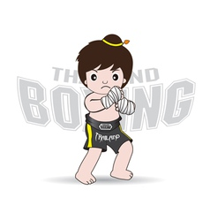 Muay thai fighters thailand boxing vector