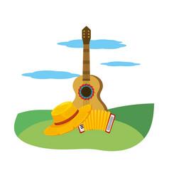 music instruements cartoon vector image