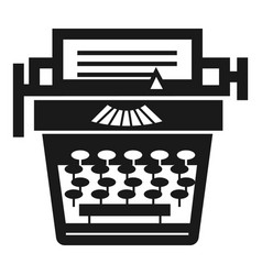 old typewriter icon simple style vector image