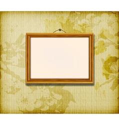 Old wooden frame vector