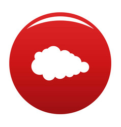 Overcast icon red vector