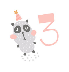 Panda birthday vector