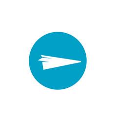 paper airplane travel logo design inspration vector image