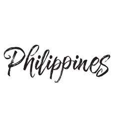 Philippines text design calligraphy vector