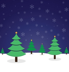 Pine tree christmas vector