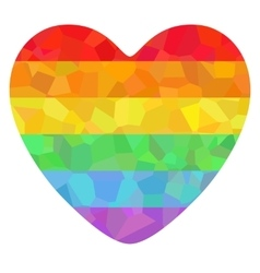 Poster with lgbt support symbol vector