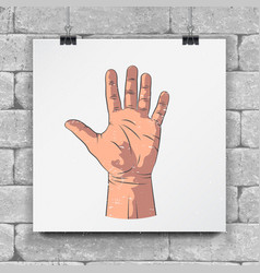 Realistic sketch hands - gestures hand-drawn vector