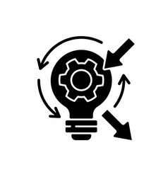 Reflection black glyph icon vector