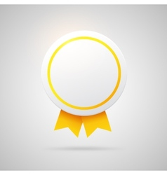 Round award with golden ribbons vector