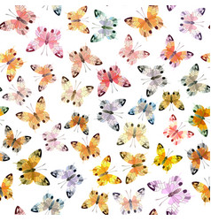 Seamless background of butterfly vector