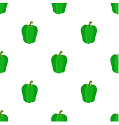 seamless pattern of bell peppers green sweet vector image