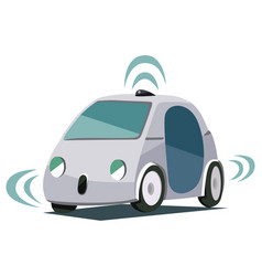 Self-driving smart car poster vector