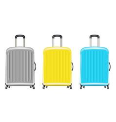 set a real wheeled travel bag vector image