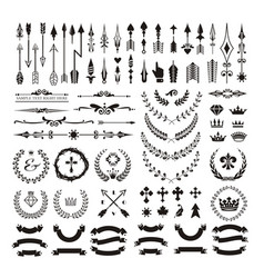 Set decorative design elements and page decor vector