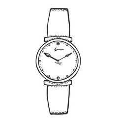 Sketch womens wrist watch vector