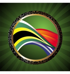 soccer ball with flag of South Africa vector image