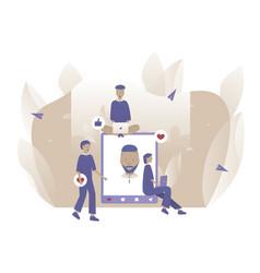 social media people give feedback new post vector image
