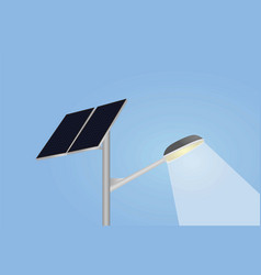 Solar panel and street lights vector