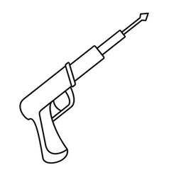Speargun icon outline style vector