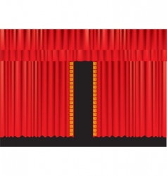 Stage curtains vector